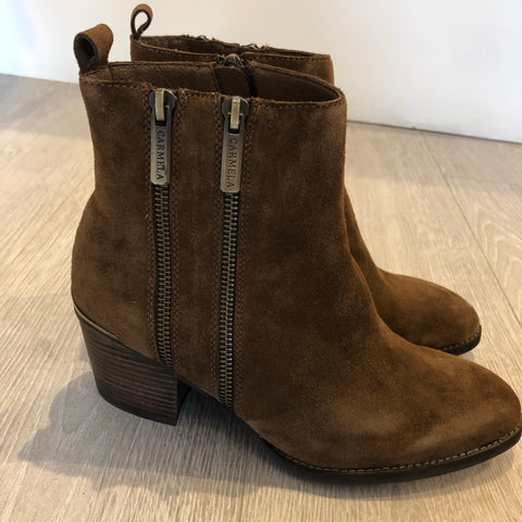 CARMELA CAMEL SUEDE ANKLE BOOT