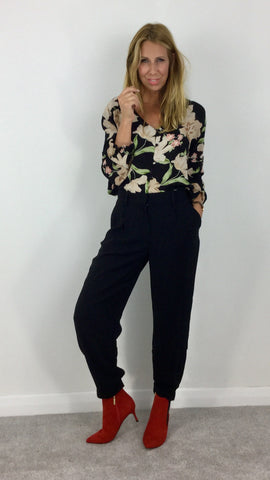AMUSE SOCIETY NEW MOON FLORAL TOP