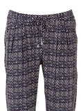 SAINT TROPEZ PATTERNED TAPERED TROUSERS