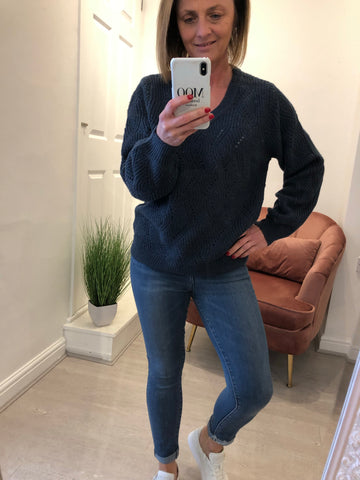 SAINT TROPEZ V NECK JUMPER
