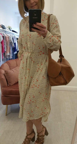 SAINT TROPEZ WOVEN SHIRT FLORAL DRESS