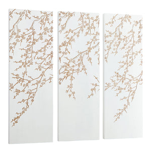 Cyan Design Cherry Blossom Wood Wall Panel Set of 3