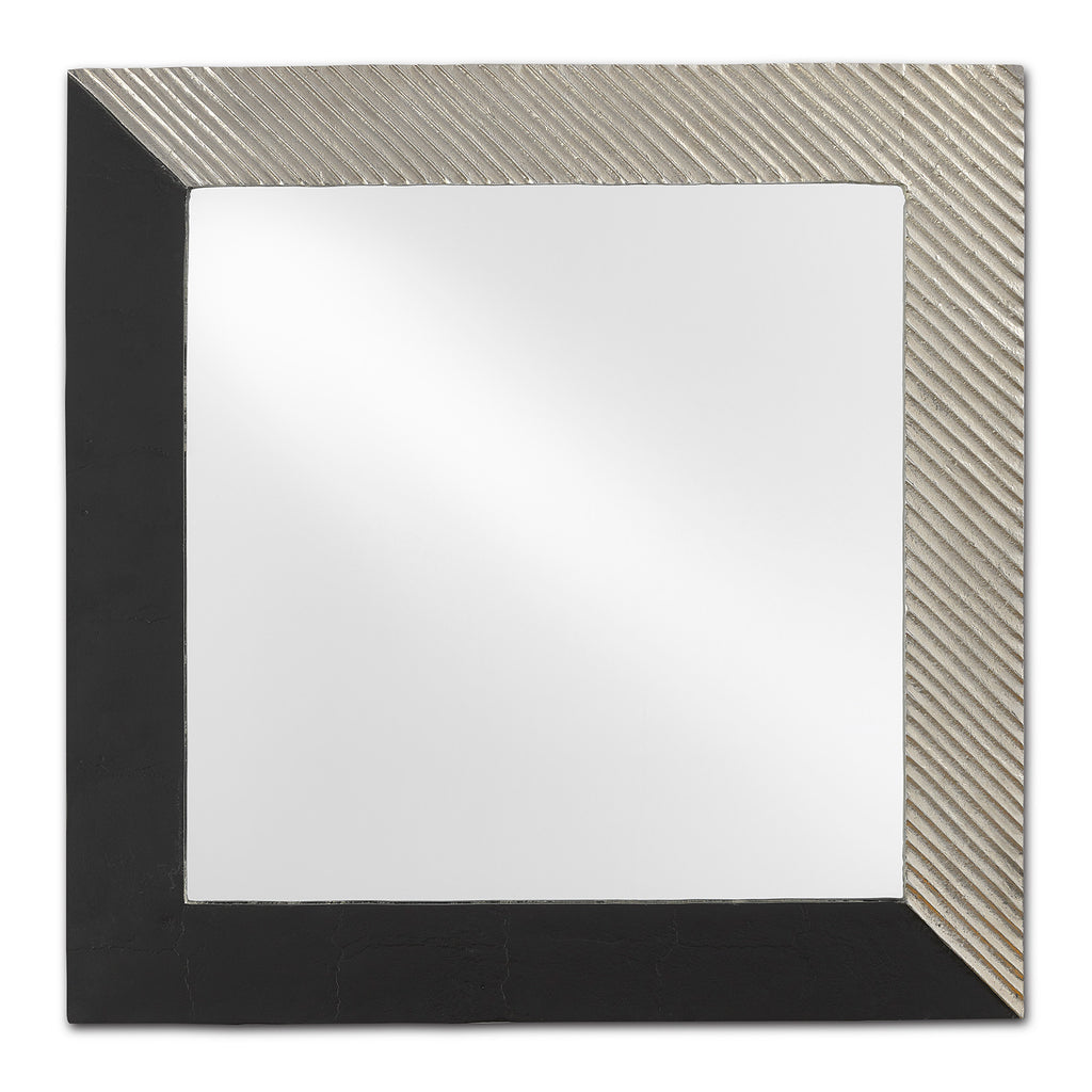 Currey & Co Calum Silver Square Mirror