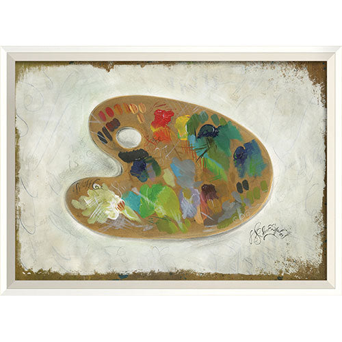 Paint Pallete 1 Framed Print