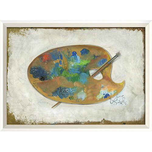 Paint Pallete 2 Framed Print