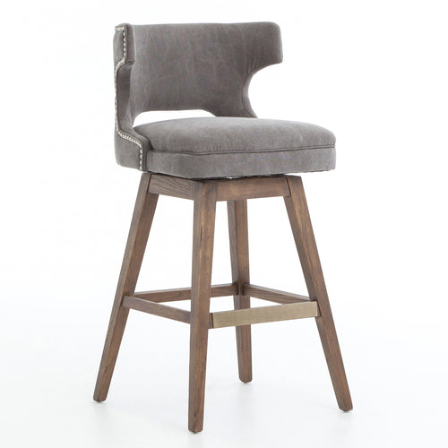 Four Hands Task Swivel Bar Stool