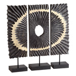 Cyan Design Ruffle 3-Piece Sculpture