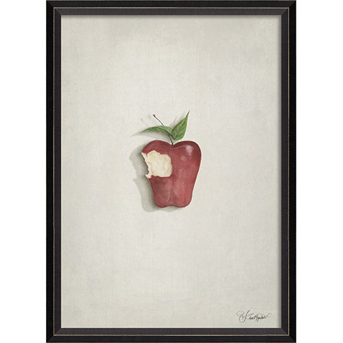 Snow White on White Framed Print