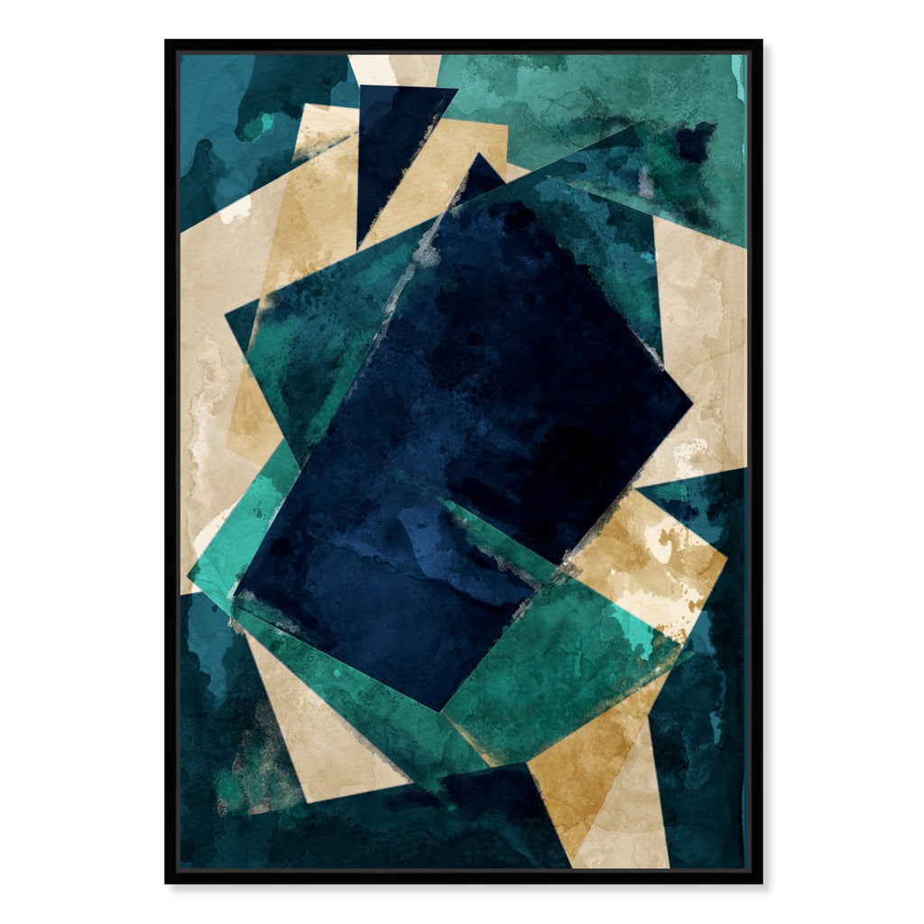 Oliver Gal Abstracta Dos Framed Canvas Wall Art