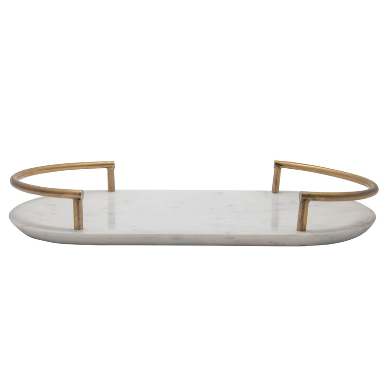 Glisan Oval Marble Tray