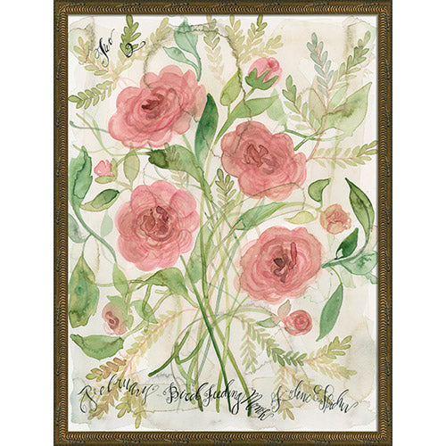 February Flowers Framed Print