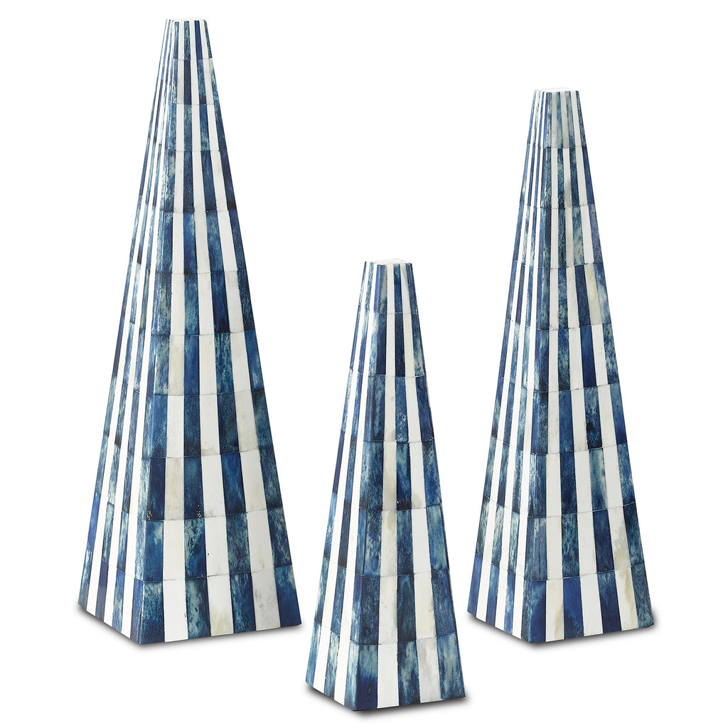 Currey & Co Ossian Obelisk Set of 3