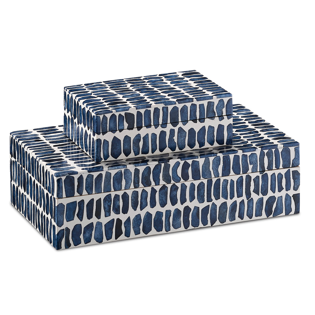 Currey & Co Indigo Box Set of 2