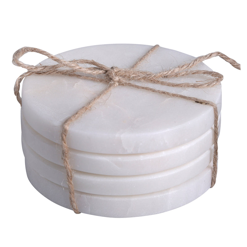 Zion Marble Round Coaster Set of 8