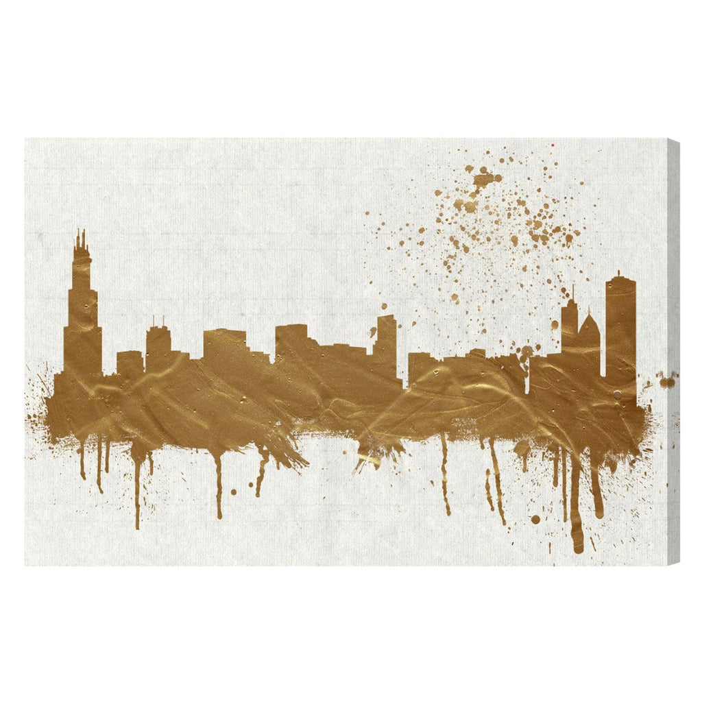 Hatcher & Ethan Chicago Skyline Canvas Wall Art