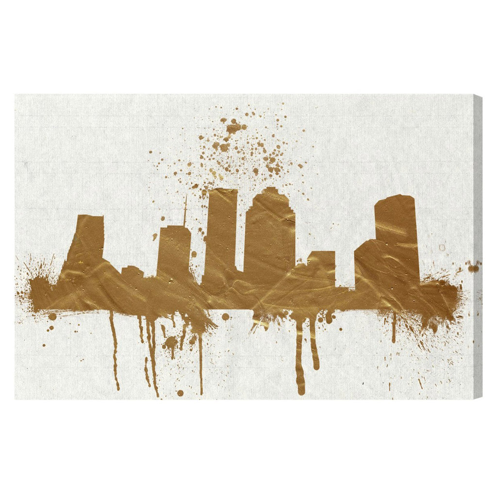 Hatcher & Ethan Houston Skyline Canvas Wall Art