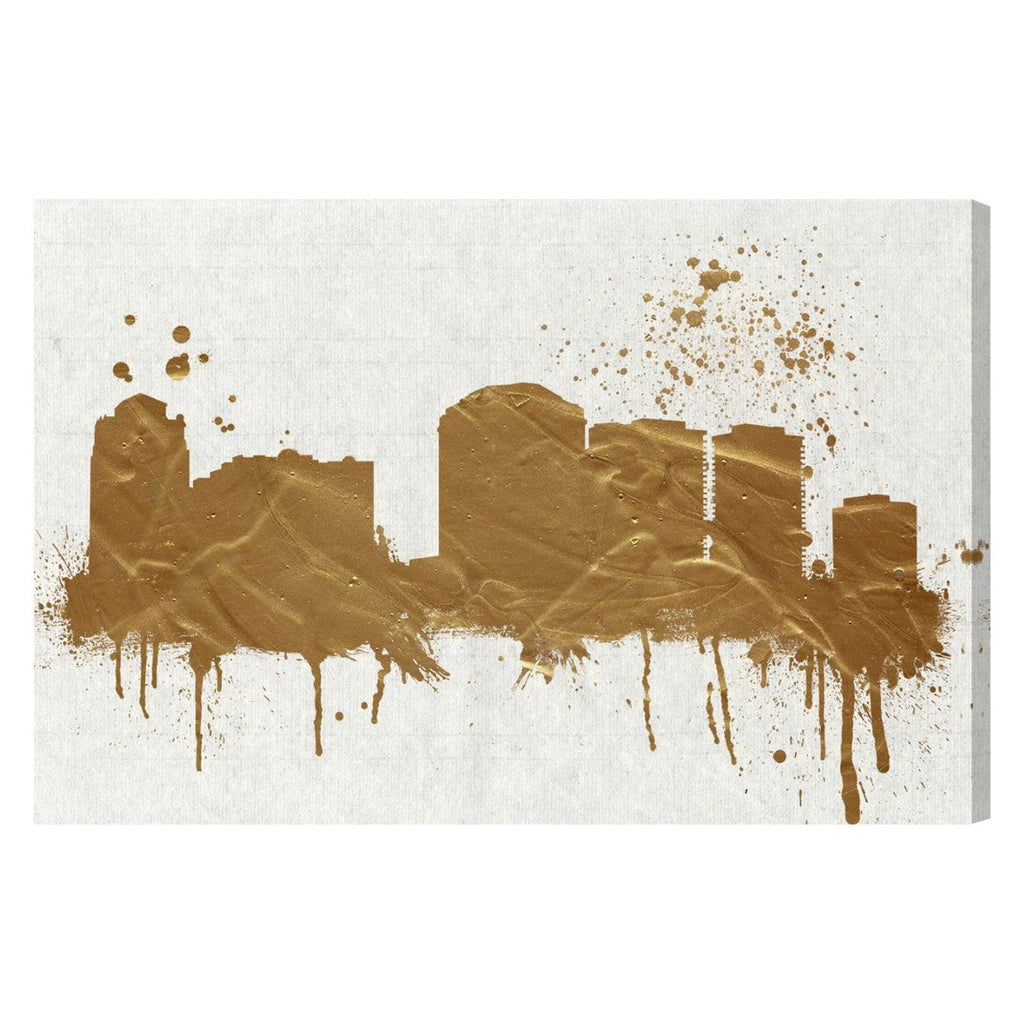 Hatcher & Ethan West Palm Beach Skyline Canvas Wall Art