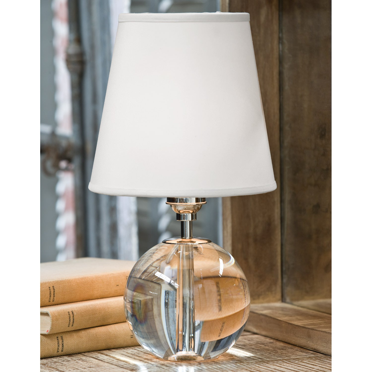 Regina Andrew Crystal Sphere Mini Table Lamp Paynes Gray