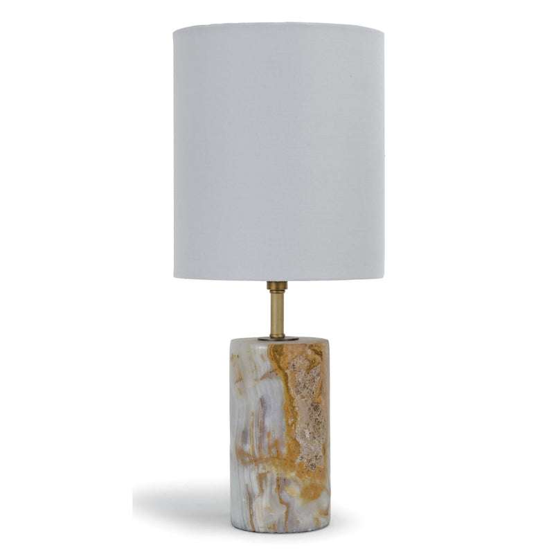 Regina Andrew Cylinder Jade & Brass Mini Table Lamp