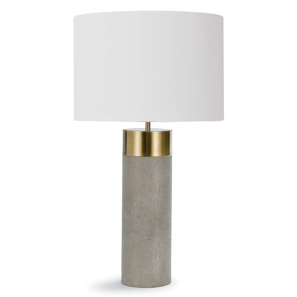 Regina Andrew Harlow Ivory & Grey Shagreen Table Lamp