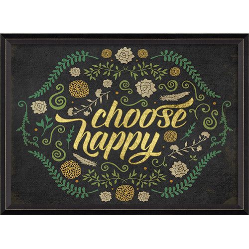Choose Happy Framed Print