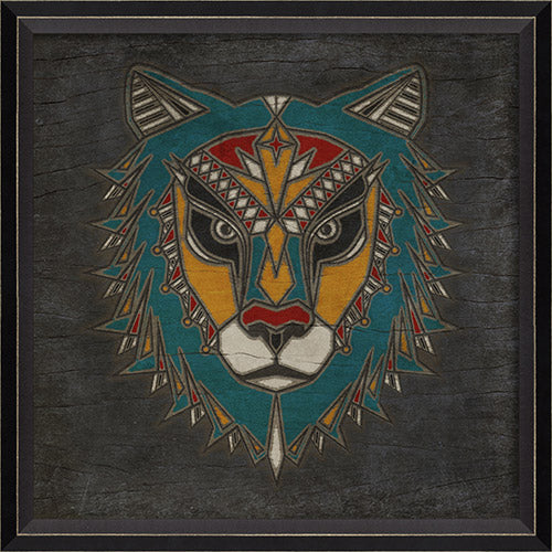 Lion Totem Framed Print