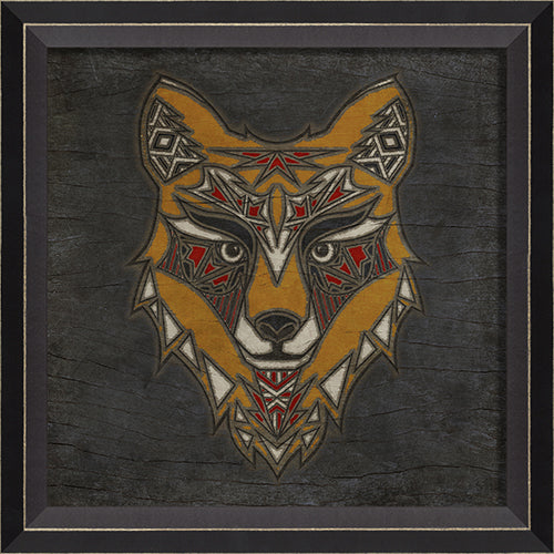 Fox Totem Framed Print