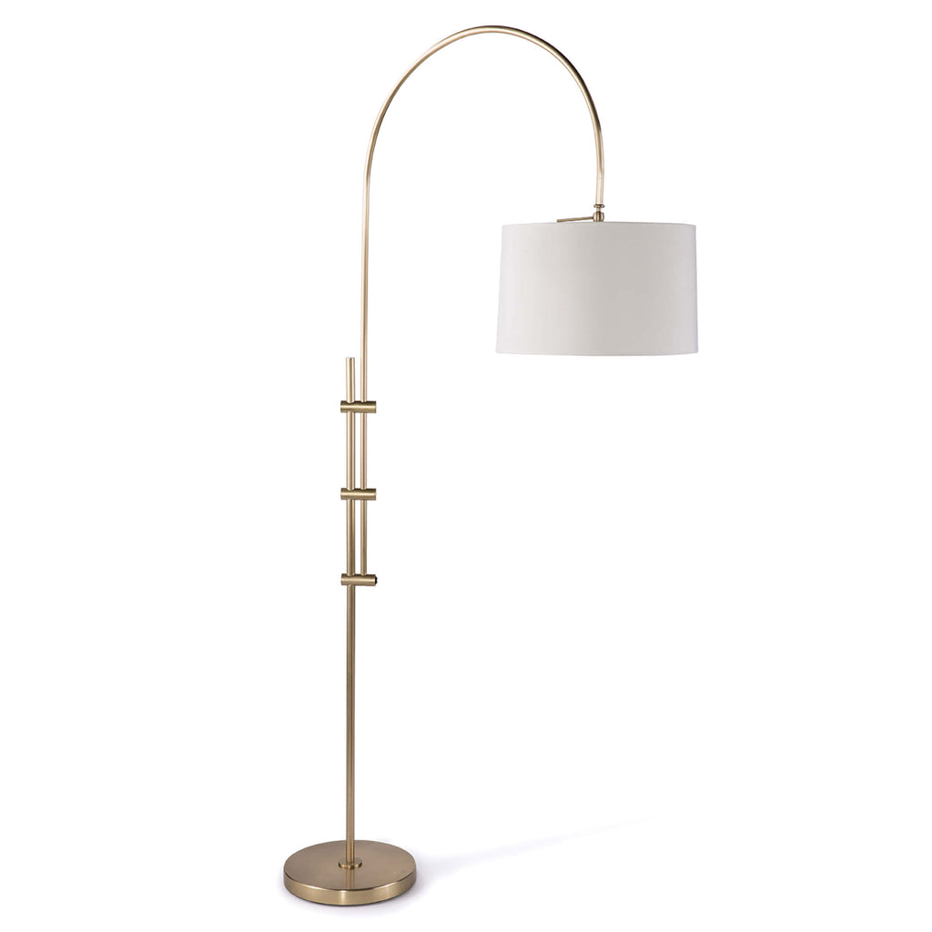 Regina Andrew Arc Natural Brass Floor Lamp