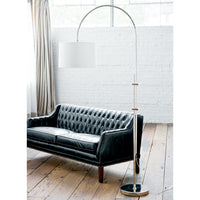 Regina Andrew Arc Polished Nickel Floor Lamp
