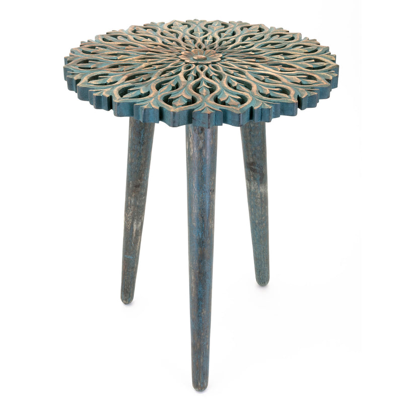 Paige Carved Side Table