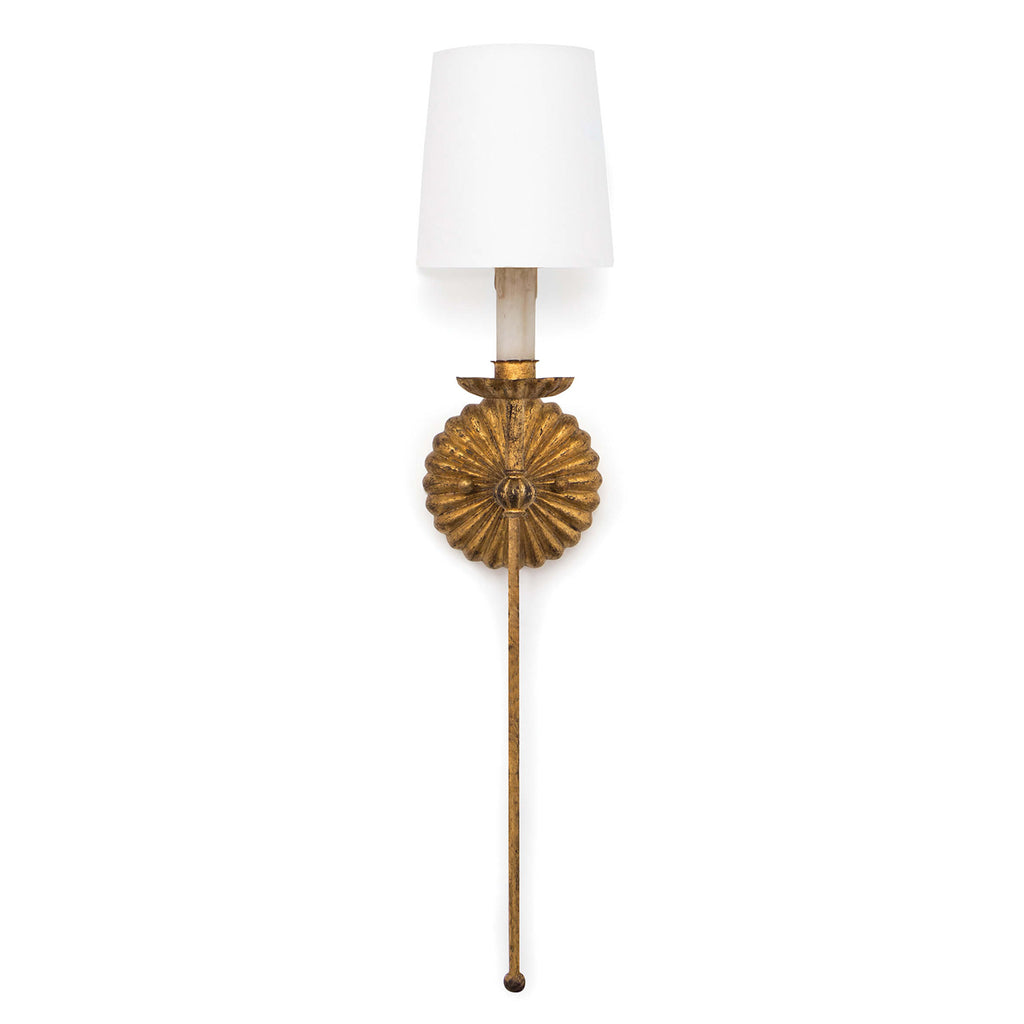 Regina Andrew Clove Antique Gold Leaf Single Wall Sconce