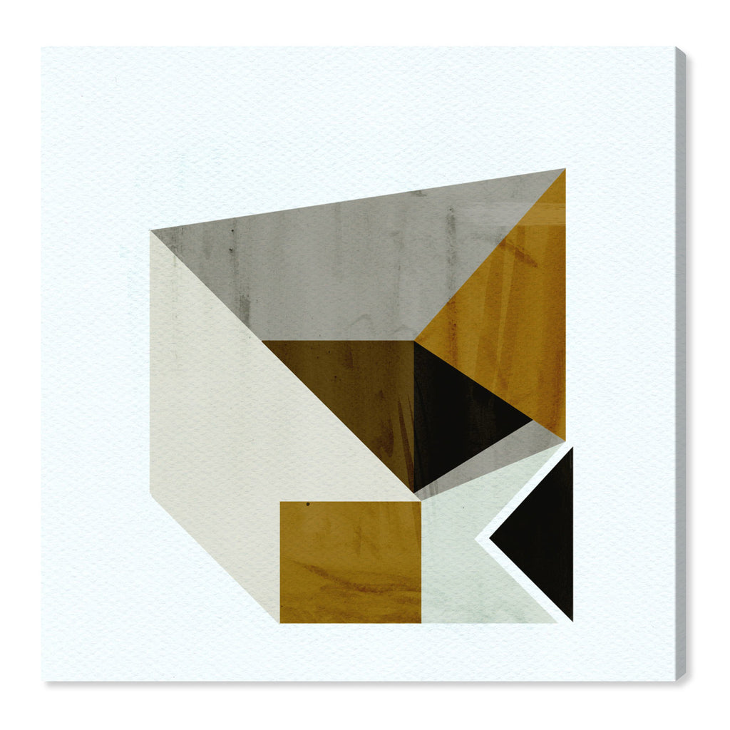 Oliver Gal Mustard Geo Canvas Wall Art