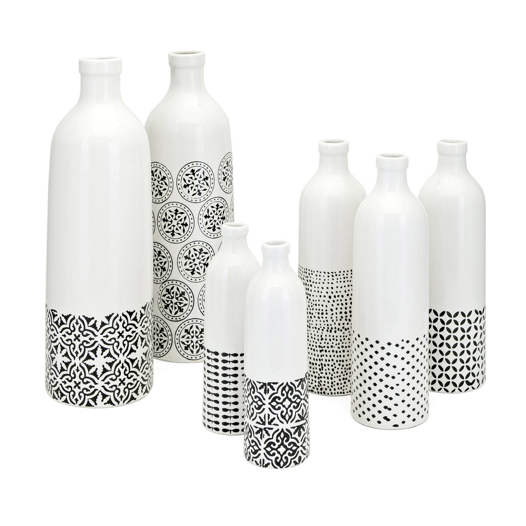 Azucena Ceramic Bottle Set of 7