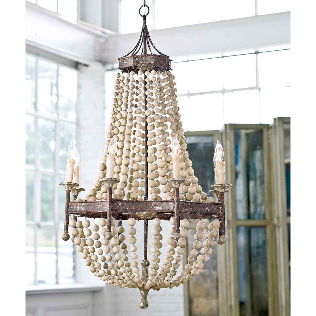 Regina Andrew Beaded Wood Chandelier