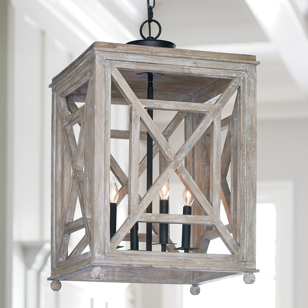 Regina Andrew Wood Lattice Lantern