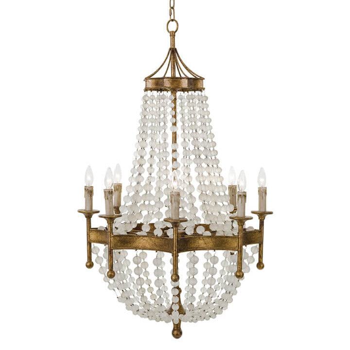 Regina Andrew Frosted Crystal Bead Chandelier