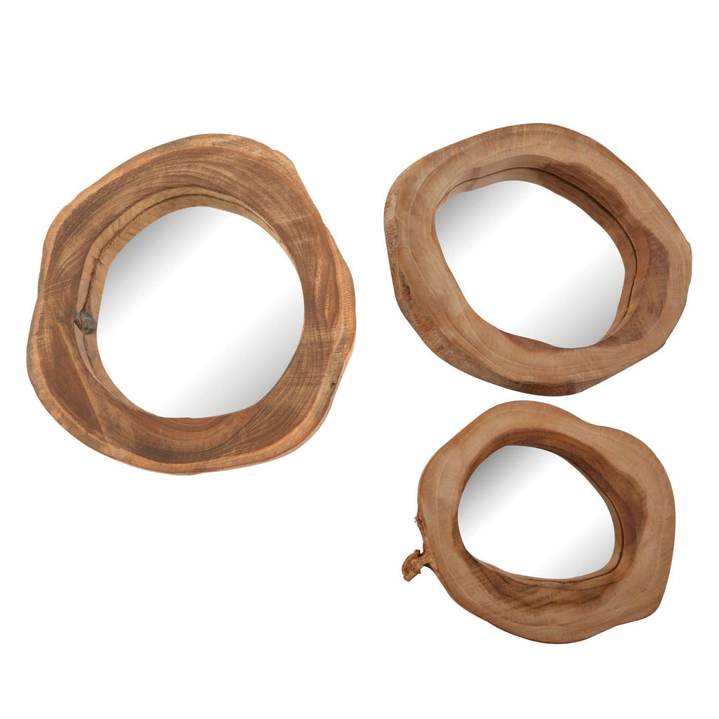 Althea Teak Mirror Set of 3