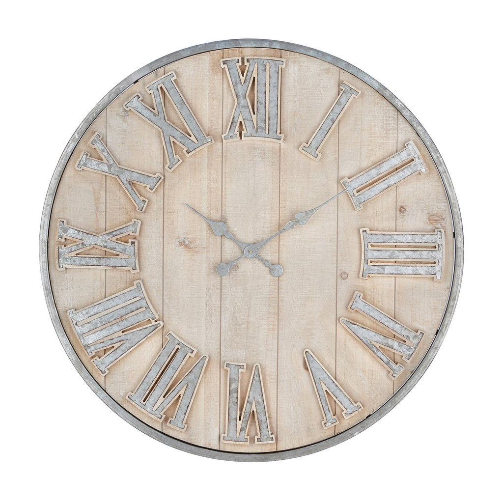 Pack Galvanized Wall Clock