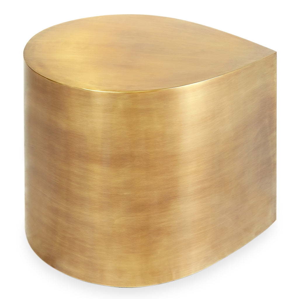 Jonathan Adler Brass Teardrop Accent Table