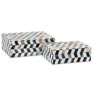 Indigo Bone Box Set of 2