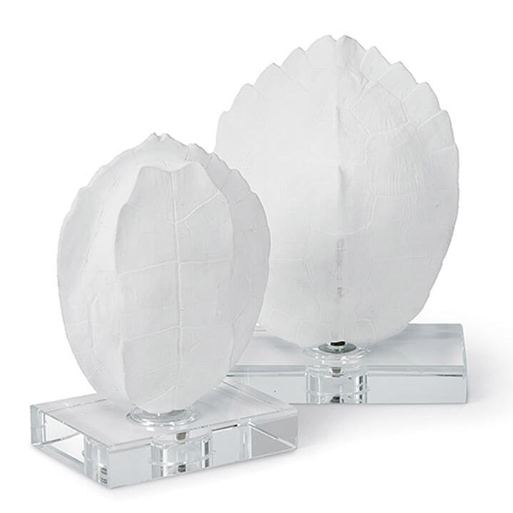 Regina Andrew Turtle Shell On Crystal Decorative Object Set of 2