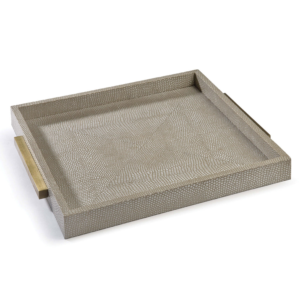 Regina Andrew Shagreen Square Python Boutique Tray
