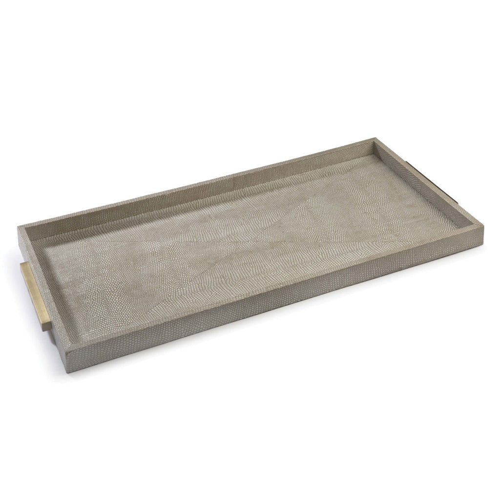 Regina Andrew Shagreen Rectangle Python Boutique Tray