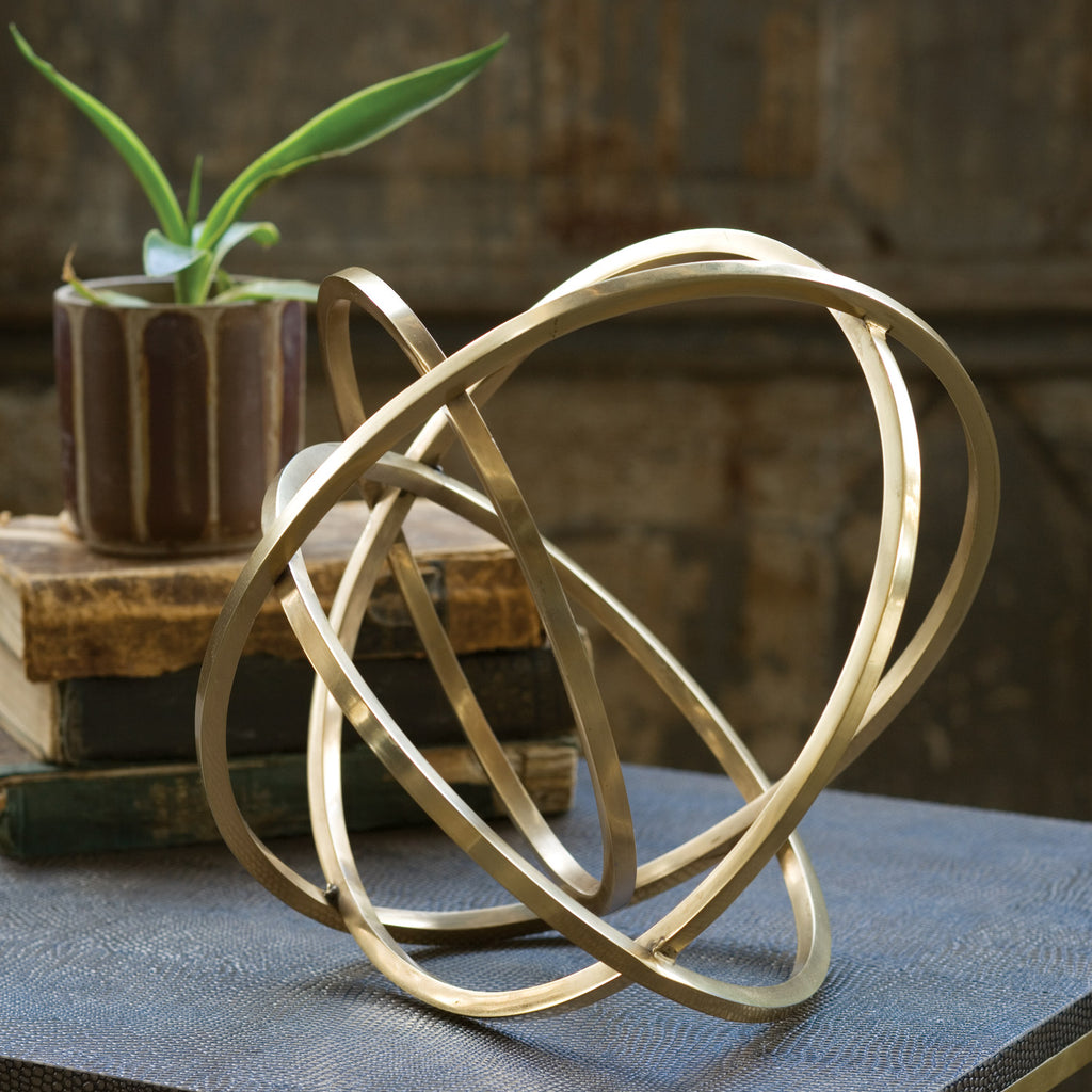 Regina Andrew Ellipse Brass Decorative Object