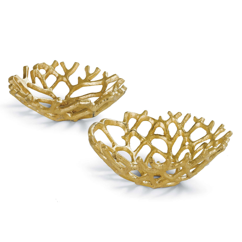 Regina Andrew Web Gilded Bowl Set of 2