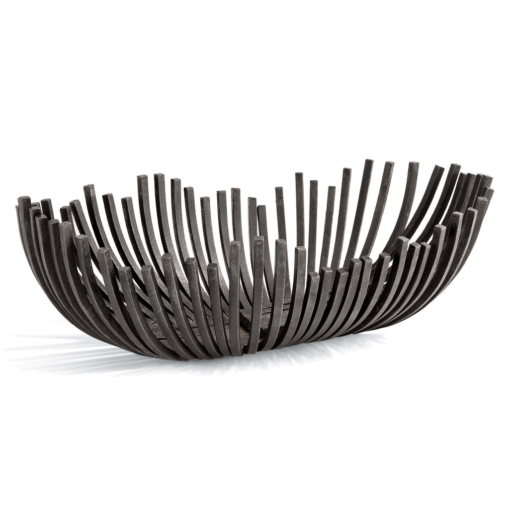 Regina Andrew Webbed Blackened Iron Oblong Bowl