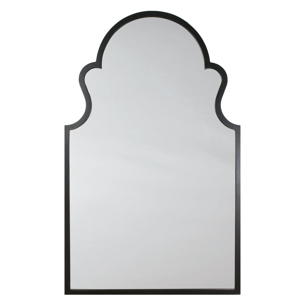 Mirror Image Home Ebony Arch Wall Mirror