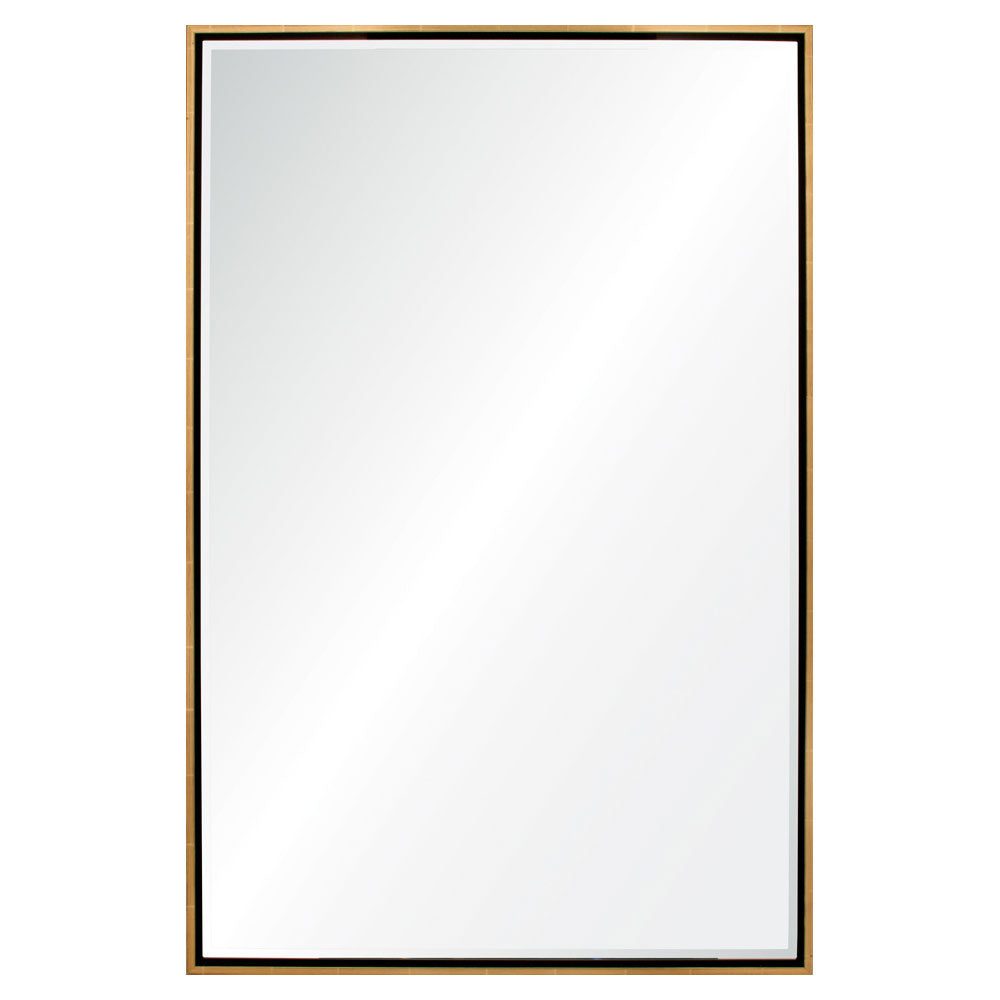 Mirror Image Home Floated Gold Leaf & Ebony Wall Mirror