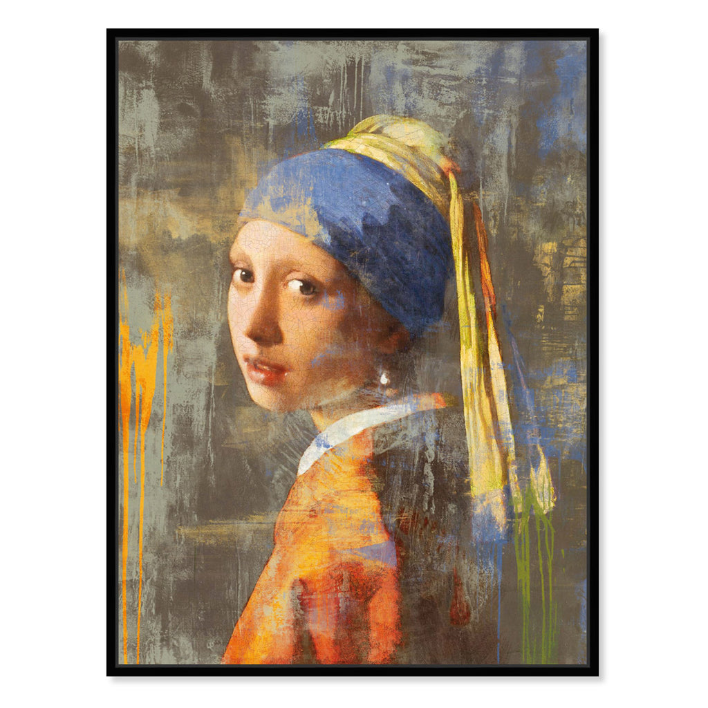 Oliver Gal Sai Beauty Beyond The Paint Framed Canvas Wall Art