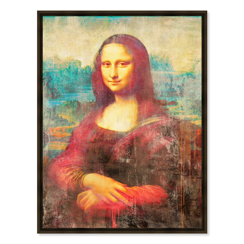 Oliver Gal Sai Mona de Rouge Framed Canvas Wall Art
